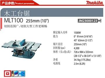 Makita MLT100X Tischkreissäge 93 mm - 4